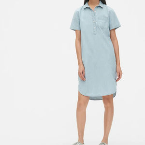 GAP Blue Railroad Stripe Shirtdress MED NWT
